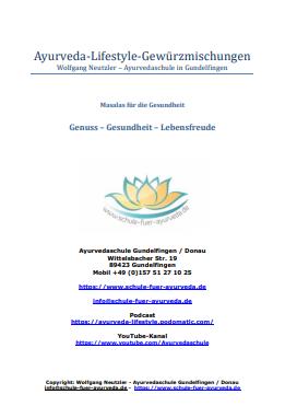 Ayurveda-Gewürzmischungen (PDF)
