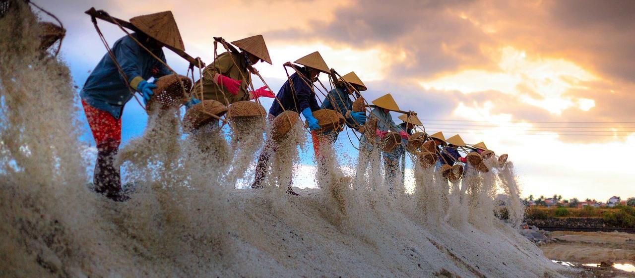 Salzproduktion Vietnam